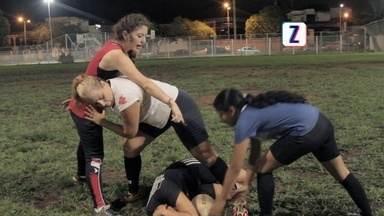 Conheça o primeiro time de rugby feminino de Porto Velho - Com apoio do time masculino, Shahira Carrafa montou o único time feminino da modalidade.