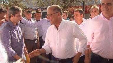 Governador Geraldo Alckmin anuncia obras em São Joaquim da Barra, SP - Verba será para construção de estação de tratamento de esgoto na cidade.