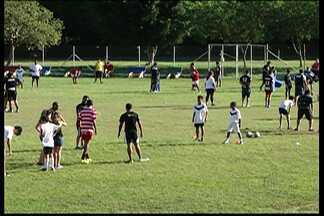 Alto Tietê Rugby realiza clínica para jovens e crianças interessados na modalidade - O evento aconteceu no campo do Vila Santista, em Mogi das Cruzes.
