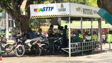 Mototaxistas cobram valor acima do permitido em Campina Grande - Os passageiros estão reclamando do valor cobrado.