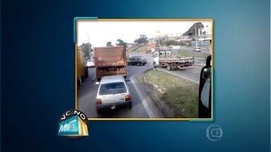 Participe do MGTV através dos aplicativos whatsapp e viber - O telefone é (31) 9923-3700. Um telespectador enviou um vídeo através do canal de comunicação, mostrando uma conversão proibida no Anel Rodoviário de Belo Horizonte.