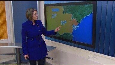 Confira a previsão do tempo para a quarta-feira (17) - Em Curitiba, mínima de 6 graus e máxima de 19 graus.