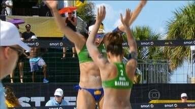 Brasileiras dominam a etapa dos Estados Unidos do Circuito Mundial de vôlei de praia - Ágatha e Bárbara conquistaram o título.