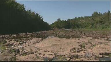 Rio Piracicaba está praticamente seco em um trecho de Americana, SP - A seca pode afetar a captação de água em Americana (SP).