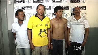 Policiais de Açailândia prendem quatro suspeitos de roubo de gado na região - Os animais estavam num curral em outro município, prontos para serem vendidos.