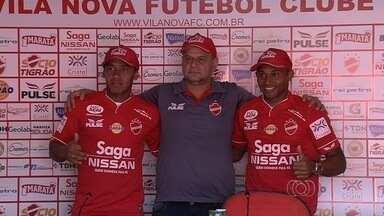 Vila Nova tem mais dois atacantes à disposição - Antônio Flávio e Ermínio são apresentados pelo clube