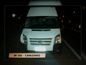 Índigena morre atropelado na BR 386 em Carazinho, RS - A vítima estava caminhando no meio da pista
