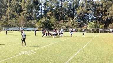 André Borges faz touchdown na vitória dos Diggers sobre o Botafogo Challengers - André Borges faz touchdown na vitória dos Diggers sobre o Botafogo Challengers pela semifinal da Super Copa São Paulo de futebol americano