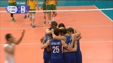 Brasil vence Austrália e segue líder na Liga Mundial de Vôlei - Equipe vence por 3 a 0.