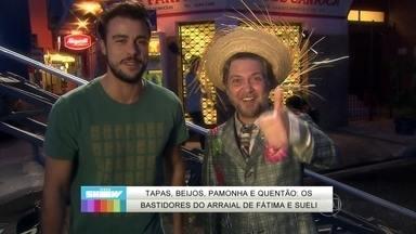 Joaquim Lopes mostra os bastidores do arraial de Tapas & Beijos - Elenco conta como foi feita a cena da festa junina