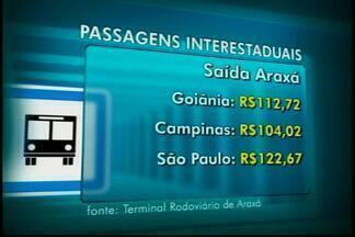 ANTT autoriza reajuste de quase 8% em preços de passagens - Veja novos preços a partir de Araxá. Cobrança de pedágio influencia em preço