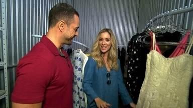 Mulheres estão guardando suas roupas em um box em vez de acumular roupas em casa - O repórter Fabricio Battaglini conheceu uma professora de balé, uma empresária e a blogueira Helena Lunardelli para entender como é feito esse armazenamento