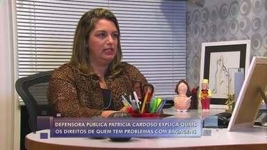 Defensora Pública explica os direitos de quem tem problemas com bagagens - Patrícia Cardoso falou sobre os direitos dos consumidores quando eles têm uma mala extraviada, trocada ou danificada