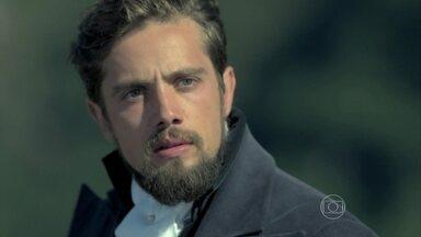 Reveja cena emocionante do primeiro capítulo de Além do Tempo - Personagem de Rafael Cardoso salva Lívia, vivida por Aline Moraes