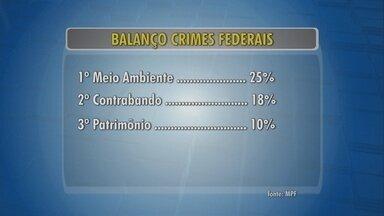 MPF aponta aumento de 13% em crimes federais em RO - Crimes ambientais lideram a estatística.