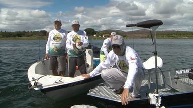 Pescadores de todo o Brasil se reúnem em evento no sudoeste baiano - O lago da barragem de Anagé sediou um torneio de pesca esportiva.