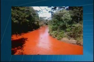 Água escura chama atenção no Rio Capivara em MG - População ribeirinha teme contaminação. Instituto de gestão das águas confirma possibilidade