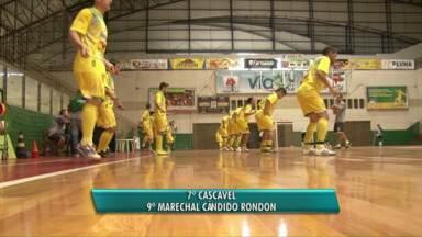 Equipes de futsal se preparam para a segunda fase da série ouro - Hoje a noite cascavel futsal enfrenta o Guarapuava. O jogo vais ser no ginásio da Neva e promete fortes emoções.