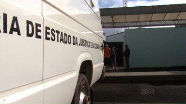 Presos são transferidos do mini presídio de Maringá - O delegado-chefe fez o pedido de transferência imediata depois que detentos estouraram cano durante tentativa de fuga