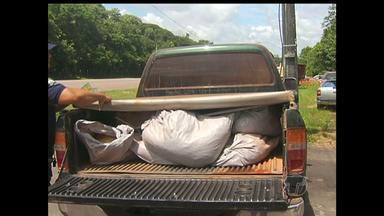 PRF apreende carga com 250kg de explosivos na BR-163 em Santarém - Motorista foi detido e a carga apreendida e levada ao posto da PRF.