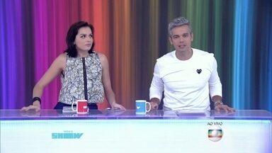 Otaviano Costa e Monica Iozzi dão 'alô' para público de todo o Brasil - Apresentadores saúdam os diferentes telespectadores do Vídeo Show