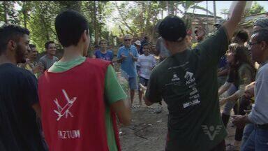Grupo Guerreiro Sem Armas realiza projeto no Morro do José Menino - Transformar um espaço pra transformar uma comunidade, dar mais orgulho e esperança de tempos melhores. Esse é o espírito que move os jovens do Guerreiro Sem Armas.