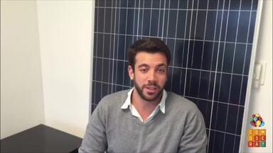Diogo Zaverucha manda parabéns para o Como Será? - Diogo participou do programa em março deste ano, mostrando sua empresa de instalação de sistema de energia solar.