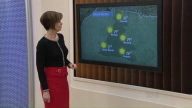 Veja a previsão do tempo para a região de Maringá - A temperatura volta a subir a tarde