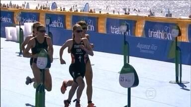 Atletas do triatlo analisam evento teste em Copacabana - Estrangeiros comentam prova, que faz parte dos testes para Olimpíada de 2016, no Rio de Janeiro.