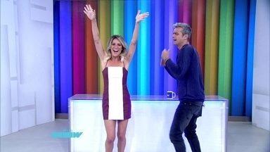 Giovanna Ewbank assume a bancada do Vídeo Show - Loira substitui Monica Iozzi nesta segunda-feira