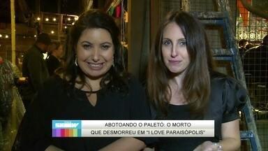 Luana Martau e Mariana Xavier mostram bastidores de velório de Raul - André Loddoi teve que ficar dentro de um caixão em I Love Paraisópolis