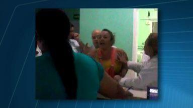 Atendente leva soco no rosto em confusão em hospital de MT - Atendente leva soco no rosto em confusão em hospital de MT