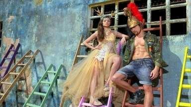 Giovanna brilha em ensaio fotográfico com Leo - Impaciente, modelo acaba confrontando fotógrafo