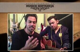 Confira duas das duplas selecionadas no concurso Novos Talentos da Música Sertaneja, em GO - Brunno e Felipe inscreveram a música Surreal. Já Diego e Leonardo foram selecionados ao cantar Sua Metade.