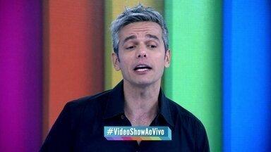 Otaviano Costa pede para público usar #VideoShowAoVivo - Apresentador cumprimenta espectadores de todas as idades
