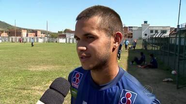 Após boa atuação, Ramon quer entrar na briga por vaga de titular no Tupi-MG - Jogador muda movimentação do ataque alvinegro e ajuda time no empate contra Tombense.
