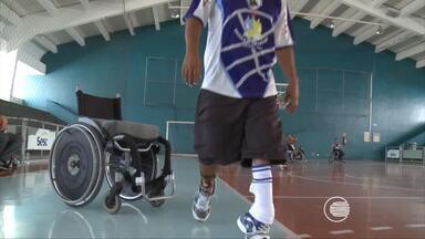 Equipe de basquete treina para Copa Paraolímpica - Equipe de basquete treina para Copa Paraolímpica