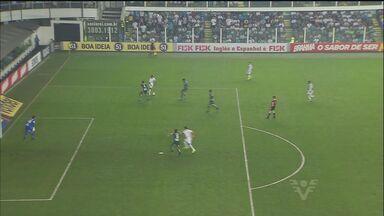 Santos vence o Coritiba por 3 a 0 na Vila Belmiro - Com a vitória, Peixe se distanciou da zona de rebaixamento.