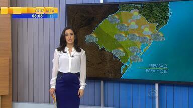 Tempo: terça (11) fica instável em boa parte do RS - Chuva acontece desde o amanhecer no estado.