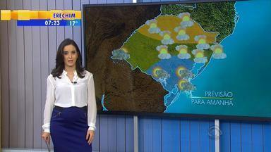 Tempo: nebulosidade causa chuvas no RS - Nuvens estão concetradas no Sul, Campanha e Oeste do estado.