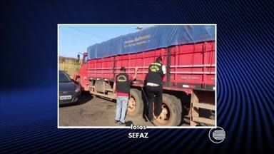 Fiscais da Sefaz apreenderam 17 toneladas de mercadorias irregulares - Fiscais da Sefaz apreenderam 17 toneladas de mercadorias irregulares