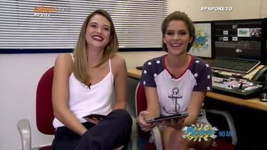 """Juliana Paiva e Isabella Santoni comentam Malhação 20 anos - Ju aconselha Bella: """"Aproveita muito, curte cada momento porque vai fazer falta. É muito bom e é pra sempre"""""""