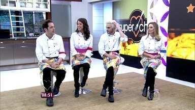 Ana Maria recebe participantes do 'Super Chef' na Casa de Cristal - Apresentadora relembra prova que definiu Panela de Pressão