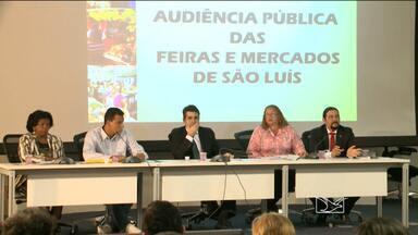 Feirantes discutem situação dos mercados em audiência pública em São Luís - E o prazo para a prefeitura apresentar um projeto de reforma das feiras de São Luís termina no dia 7 de outubro. Nesta terça-feira (18) feirantes discutiram a situação dos mercados em uma audiência pública na assembleia legislativa.