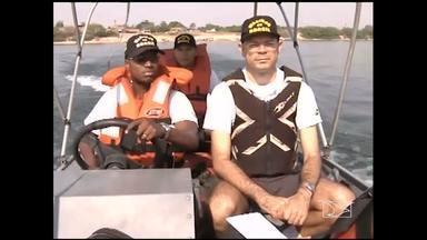 Marinha reforça investigações de acidentes no rio Tocantins, no Maranhão - A Marinha vai reforçar as investigações de acidentes que aconteceram no rio Tocantins, no Maranhão. Um deles foi no fim de semana. O corpo do rapaz atingido por uma moto aquática foi encontrado nessa quarta-feira (19). O trabalho a partir de agora é ouvir testemunhas para tentar identificar o piloto que fugiu sem prestar socorro.