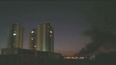 Área entre Santa Gertrudes e Cordeirópolis pegou fogo na noite de quarta - Confira imagens do fogo