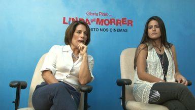 """Em entrevista, Glória Pires fala sobre novo filme e atuação ao lado da filha Antônia - """"Linda de Morrer' chega nesta quinta-feira (20) às telas do cinema."""