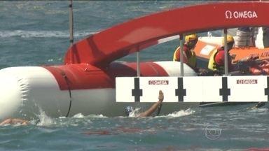 Britânica vence evento-teste de maratona aquática, enquanto brasileira fica em segundo - Ana Marcela Cunha vai ao pódio, e Poliana Okimoto desiste por causa de dores