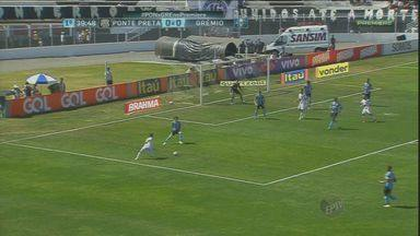 Ponte Preta empata com Grêmio em 0 a 0 - Apesar de finalizar mais de 20 vezes, o time campineiro quase perdeu o jogo nos acréscimos do segundo tempo.