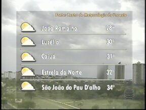 Pancadas de chuva são previstas para Oeste Paulista - Sol entre nuvens deve predominar na maioria das cidades.